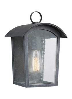 "Feiss Hodges 11.75"" Exterior Wall Lantern OL13300ABLK"