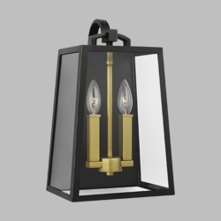 "Feiss Lindbergh 15.1"" Exterior Light Sconce OL14502ANBZ-PBB"