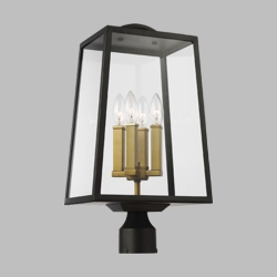 Feiss Lindbergh Outdoor Post Lamp OL14504ANBZ-PBB