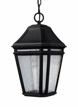 "Feiss Londontowne 15"" Black LED Outdoor Pendant Light Fixture OL11309BK-LED"
