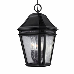 "Feiss Londontowne 15"" Black Outdoor Hanging Light OL11309BK"