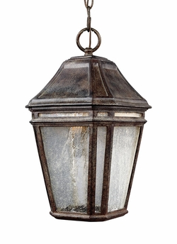 "Feiss Londontowne 15"" Chestnut LED Outdoor Lighting Pendant OL11309WCT-LED"