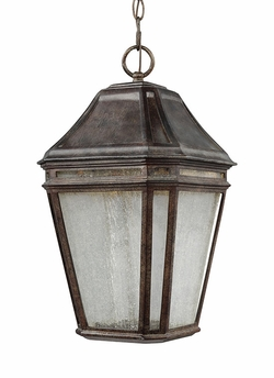 "Feiss Londontowne 17.25"" Chestnut LED Outdoor Hanging Lighting Fixture OL11311WCT-LED"