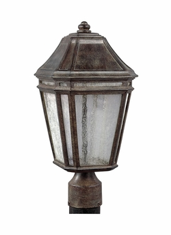 "Feiss Londontowne 17"" Chestnut LED Outdoor Post Lantern OL11307WCT-LED"