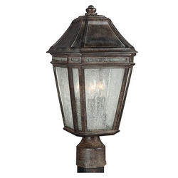 "Feiss Londontowne 17"" Chestnut Outdoor Post Lighting OL11307WCT"