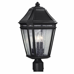 "Feiss Londontowne 19.5"" Black Outdoor Lamp Post OL11308BK"