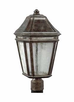 "Feiss Londontowne 19.5"" Chestnut LED Outdoor Post Light OL11308WCT-LED"