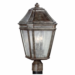 "Feiss Londontowne 19.5"" Chestnut Outdoor Post Lighting Fixture OL11308WCT"