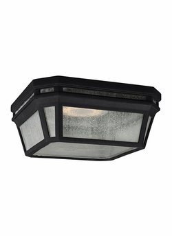 "Feiss Londontowne 5.125"" Black LED Outdoor Ceiling Fixture OL11313BK-LED"
