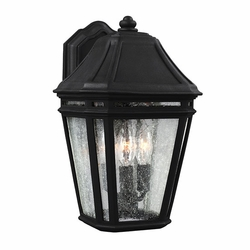 "Feiss Londontowne Black 13.875"" Exterior Wall Sconce OL11301BK"