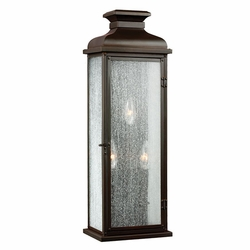 """Feiss Pediment 18.125"""" Copper Outdoor Wall Sconce Lighting OL11104DAC"""