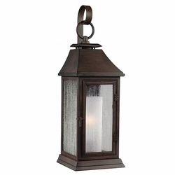"Feiss Shepherd 16.5"" Copper Outdoor Wall Sconce Lighting OL10600HTCP"