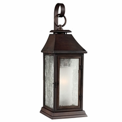 "Feiss Shepherd 19.125"" Copper Outdoor Wall Lamp OL10601HTCP"