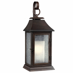 """Feiss Shepherd 25.625"""" Copper Exterior Wall Sconce OL10602HTCP"""