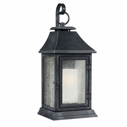 "Feiss Shepherd 35.125"" Zinc Outdoor Wall Lighting Fixture OL10603DWZ"