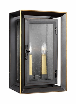 """Feiss Urbandale Bronze and Brass 16.25"""" Exterior Wall Lighting OL13802ANBZ/PBB"""