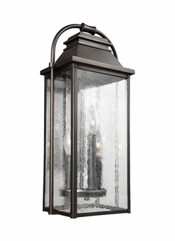 "Feiss Wellsworth 18.25"" Bronze Outdoor Wall Lighting OL13200ANBZ"