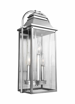 "Feiss Wellsworth 18.25"" Brushed Steel Outdoor Wall Light OL13200PBS"