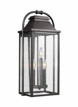 "Feiss Wellsworth 22.75"" Bronze Outdoor Wall Sconce OL13201ANBZ"