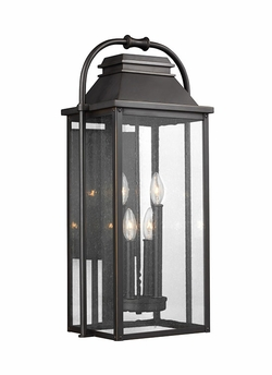 "Feiss Wellsworth 27"" Outdoor Wall Sconce Lighting OL13202ANBZ"
