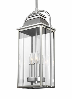 Feiss Wellsworth Brushed Steel Outdoor Pendant Lamp OL13209PBS