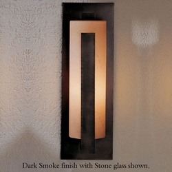 "Forged Vertical Bar 18.8"" Outdoor Wall Lamp By Hubbardton Forge - Contemporary"