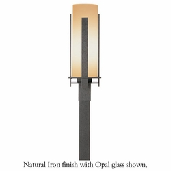 "Forged Vertical Bar 22.5"" Outdoor Lamp Post By Hubbardton Forge - Contemporary"