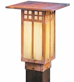 "Glasgow 12"" Outdoor Post Light By Arroyo Craftsman"