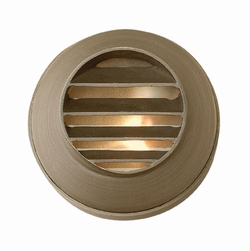 Hinkley Hardy Island LED Round Louvered Exterior Deck Sconce - Bronze 16804MZ-LED