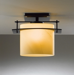 "Hubbardton Forge Arc Ellipse 10"" Outdoor Ceiling Light - Contemporary"