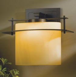 "Hubbardton Forge Arc Ellipse 15.2"" Exterior Wall Sconce - Contemporary"