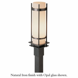 """Hubbardton Forge Banded 22.25"""" Outdoor Post Lantern - Contemporary"""