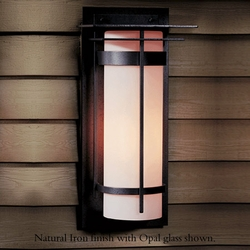 "Hubbardton Forge Banded Large 20.3"" Outdoor Wall Lantern"