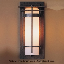 """Hubbardton Forge Banded Small 12"""" Exterior Wall Sconce"""