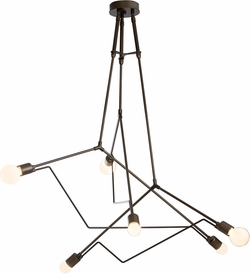 Hubbardton Forge Divergence Outdoor Lighting Chandelier - Coastal Bronze 362015-75