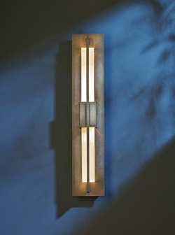 "Hubbardton Forge Double Axis Small 23.5"" LED Outdoor Lighting Sconce - Contemporary 306415D"