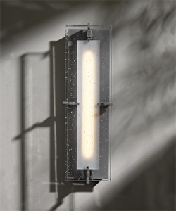 "Hubbardton Forge Ethos Medium 18.3"" LED Outdoor Lighting Sconce - Contemporary 308010D"