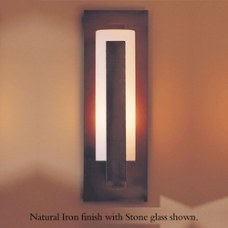 """Hubbardton Forge Forged Vertical Bar 15"""" Outdoor Wall Light - Contemporary"""