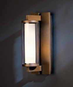"Hubbardton Forge Fuse Small 12"" Exterior Wall Sconce - Contemporary 306450"