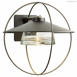 "Hubbardton Forge Halo Large 17"" Halogen Exterior Light Sconce 302703"