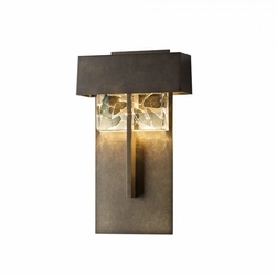 "Hubbardton Forge Shard Large 14.1"" LED Exterior Wall Sconce 302517D"