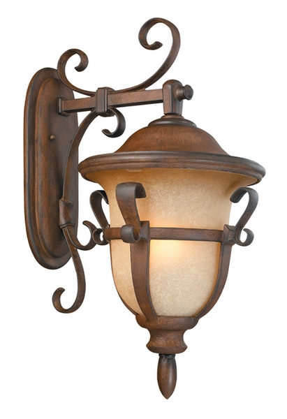kalco tudor 26 5 exterior wall lighting fixture walnut 9393wt