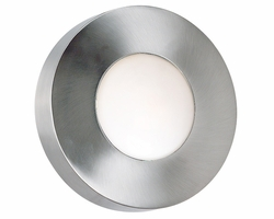 "Kenroy Home Burst 10"" Outdoor Wall Sconce/Flush Mount - Polished Aluminum 72823PA"
