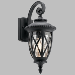 "Kichler Admirals Cove 18.75"" Outdoor Wall Lamp 49847BKT"