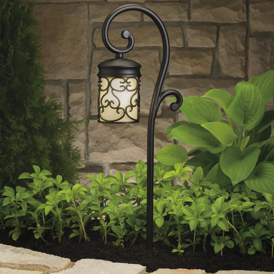 kichler almeria mediterranean outdoor path lighting fixture 15426bkt