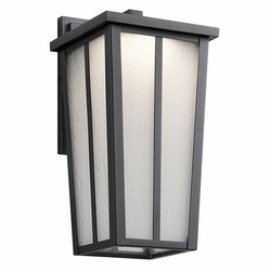 "Kichler Amber Valley 13"" LED Exterior Light Sconce - Black 49622BKTLED"