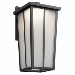 "Kichler Amber Valley 17.25"" LED Outdoor Wall Lighting - Black 49624BKTLED"
