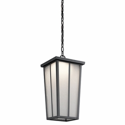 Kichler Amber Valley LED Outdoor Hanging Lantern - Black 49626BKTLED