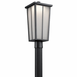 Kichler Amber Valley LED Outdoor Post Lighting - Black 49625BKTLED