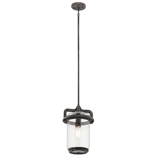 Kichler andover 1625 hanging outdoor light 49868wzc aloadofball Image collections